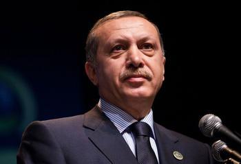Der türkische Präsident Recep Tayyip Erdogan bei einer Rede 2010