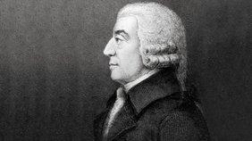 Zeichnung von Adam Smith.