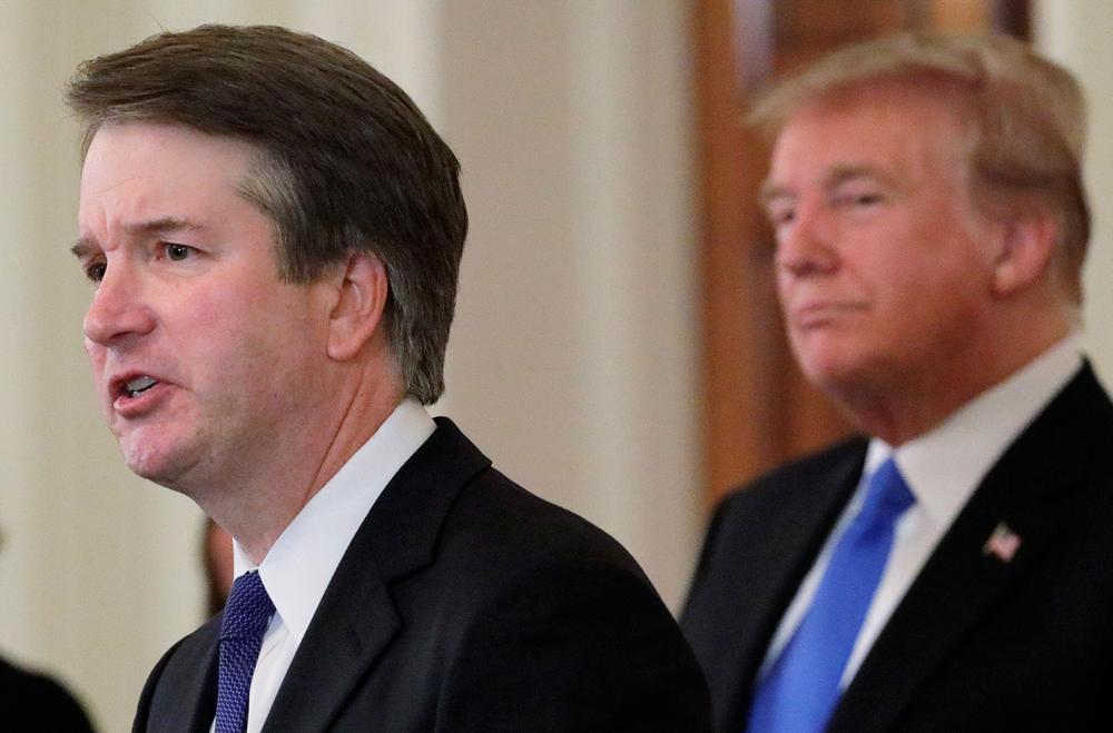 Brett Kavanaugh, Kandidat für das Oberste Gericht der USA, mit Präsident Donald Trump