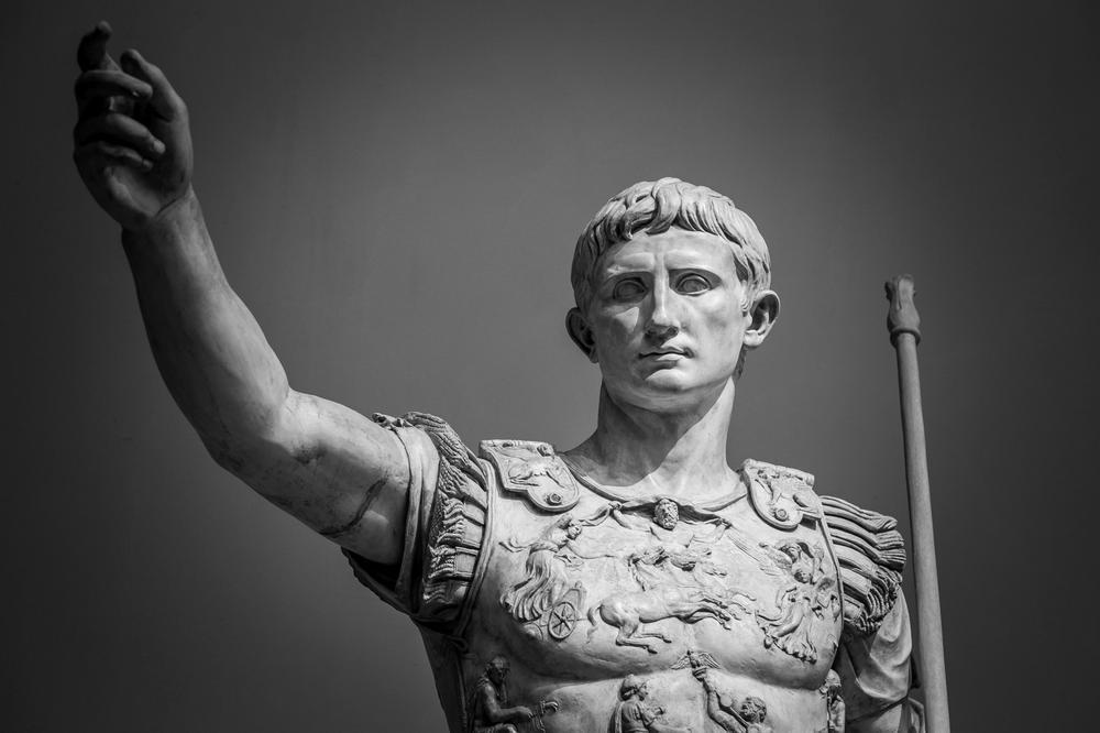 Statue von Kaiser Augustus in Rom.
