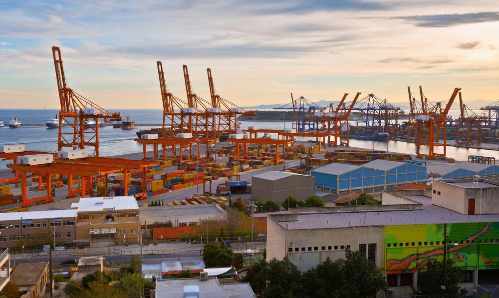 Containerhafen von Piräus.