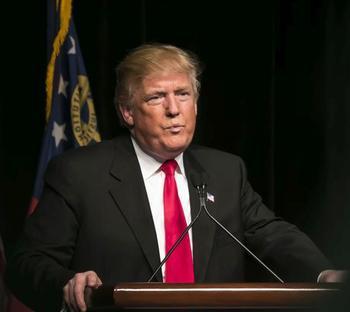 Donald Trump bei einer Wahlkampfrede