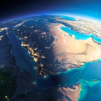 Satellitenaufnahme von der Arabischen Halbinsel