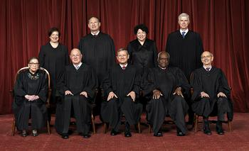 Die neun Richter des obersten US-Gerichtes, des Supreme Court.