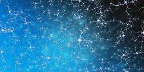 Neuronen im Nervensystem in einer 3-D-Darstellung.