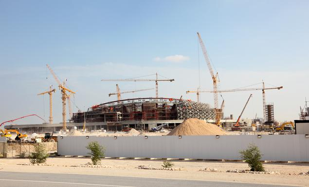 Baustelle Stadion Katar