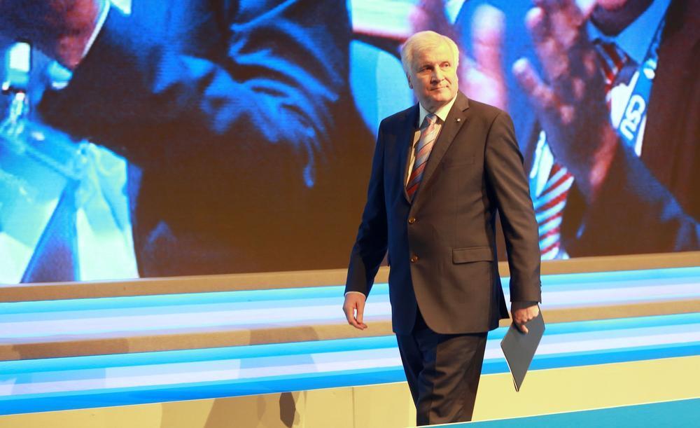 Horst Seehofer auf der Bühne beim CSU-Parteitag 2016.