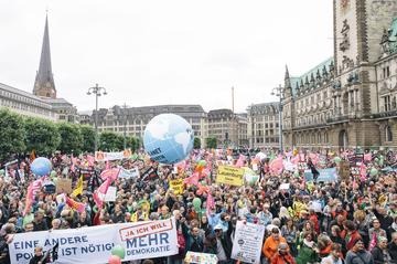 Friedliche Demonstration gegen den G20-Gipfel