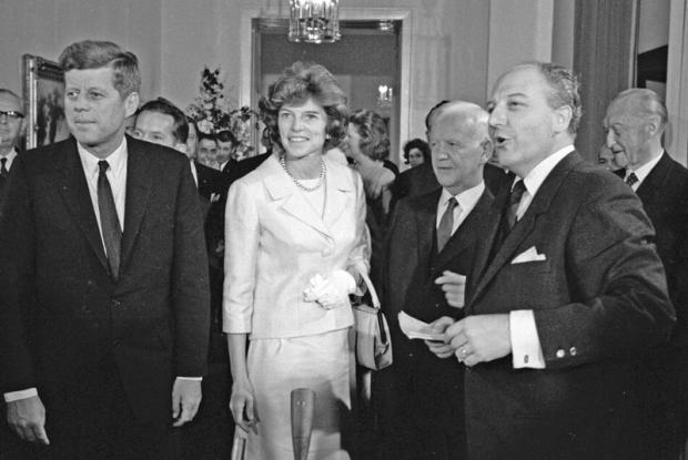 Walter Scheel mit John F. Kennedy.