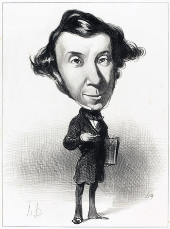 Karikatur von Alexis de Tocqueville.