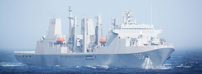 Großes chinesisches Kriegsschiff.