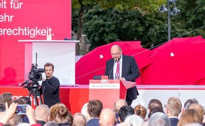 Martin Schulz bei einer Rede im Wahlkampf