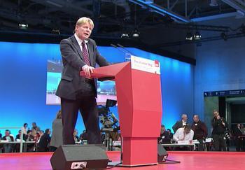 Reiner Hoffmann bei seiner Rede auf dem SPD-Parteitag.