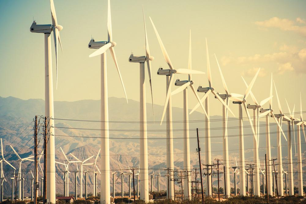 Windkraftanlage in Coachella Valley in Kalifornien.