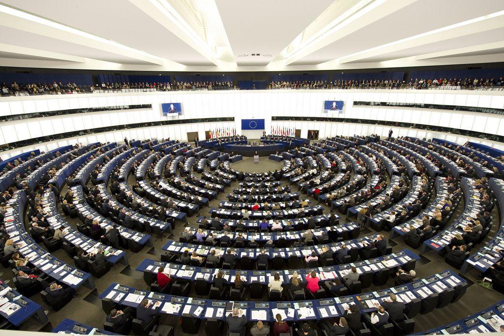 Das Plenum im EU-Parlament in Straßburg.