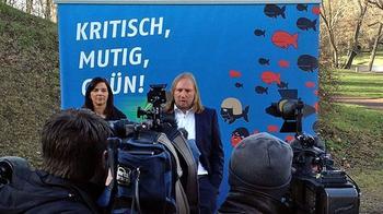 Pressekonferenz mit den Grünen-Politikern Katrin Göring-Eckardt und Anton Hofreiter