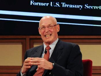 Der ehemalige US-Finanzminister Hank Paulson