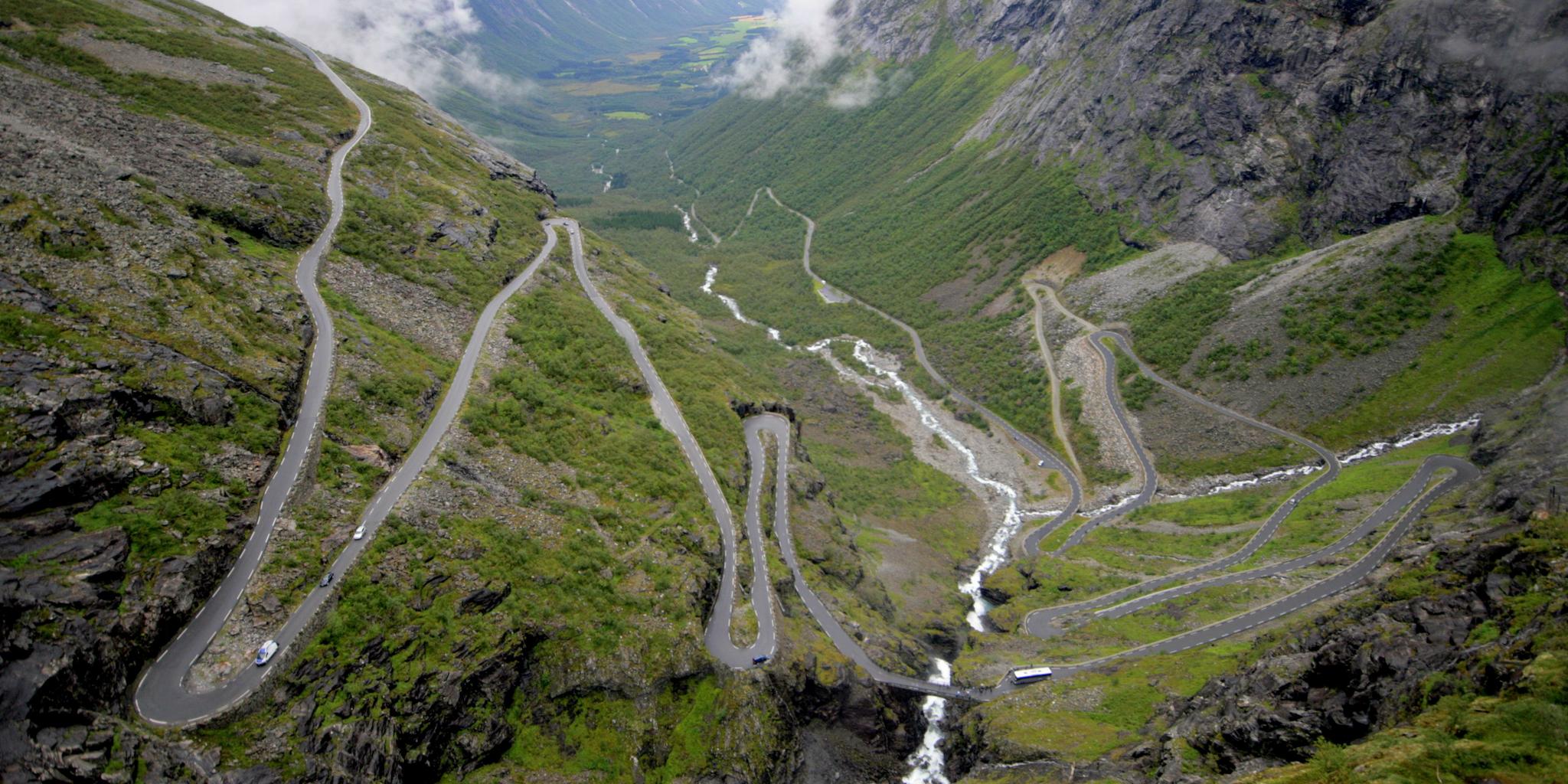 Bergstraße in Norwegen