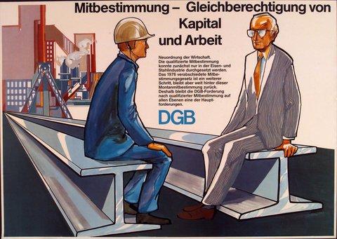 Plakat DGB-Sympathiewerbung Mitbestimmung