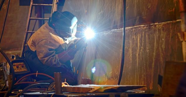 Arbeiter Werft Schweißer