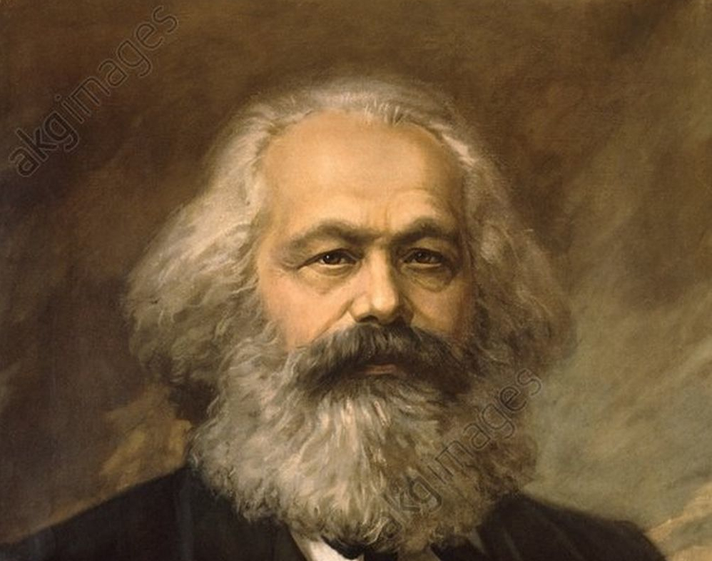Karl-Marx-Gemälde von John Jabez Edwin Mayall.