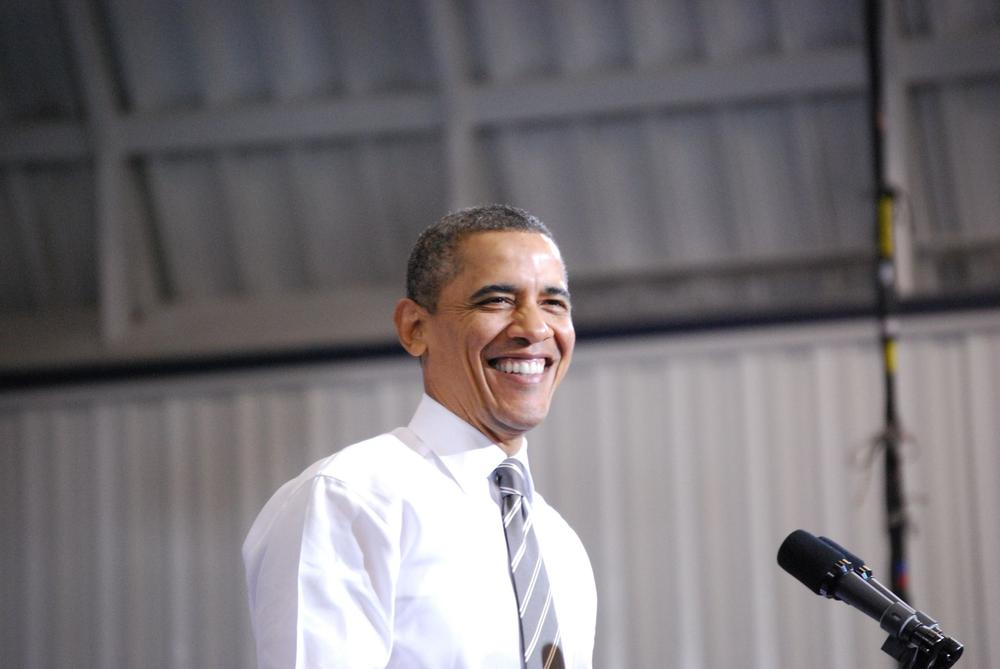 Barack Obama bei einer Wahlkampfrede