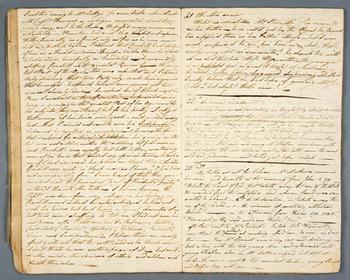 Handschriftliches Tagebuch von Thomas Parsons