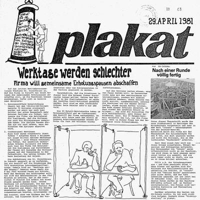 "Ausgabe der linken Zeitung ""plakat"""