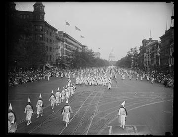 Marsch des Ku-Klux-Klan in Washington 1926