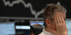 Man runzelt die Stirn in der Frankfurter Börse