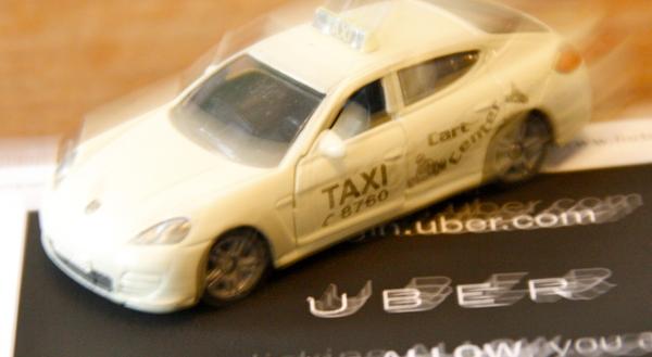 Taxi auf Uber-App
