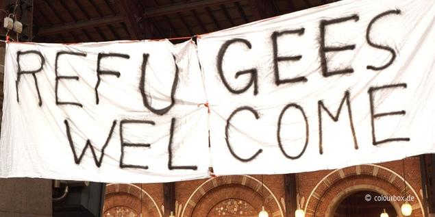 Refugees Welcome Plakat