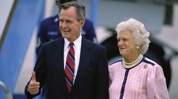Präsident George H.W. Bush mit seiner Frau Barbara 1988