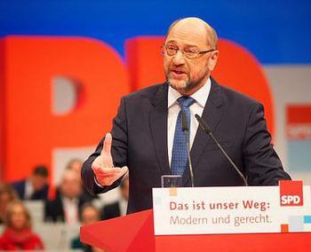 Martin Schulz spricht beim SPD-Parteitag 2017