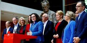 SPD-Vorstand im Willy-Brandt-Haus