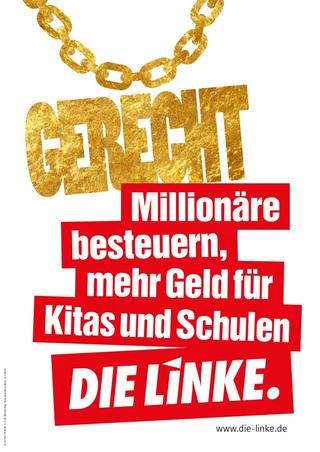 Wahlplakat der Partei Die Linke