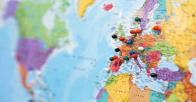 Landkarte von Europa