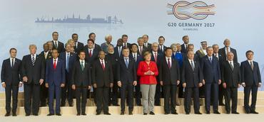 Teilnehmer des G20-Gipfels in Hamburg
