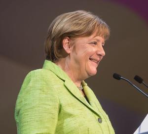 Kanzlerin Angela Merkel bei einer Rede