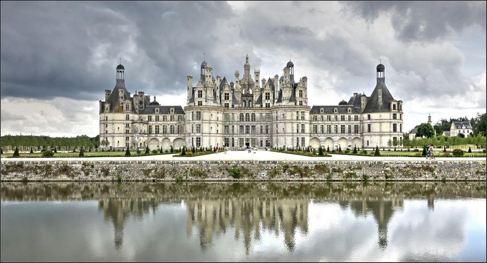Das Schloß Château de Chambord an der Loire