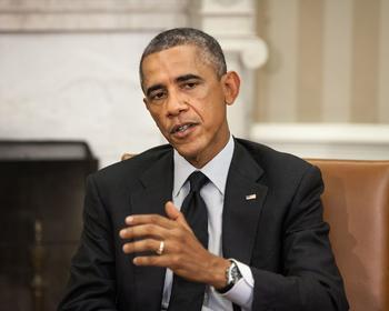 Barack Obama während seiner Amtszeit im Weißen Haus.