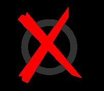 Kreuz durch einen Kreis