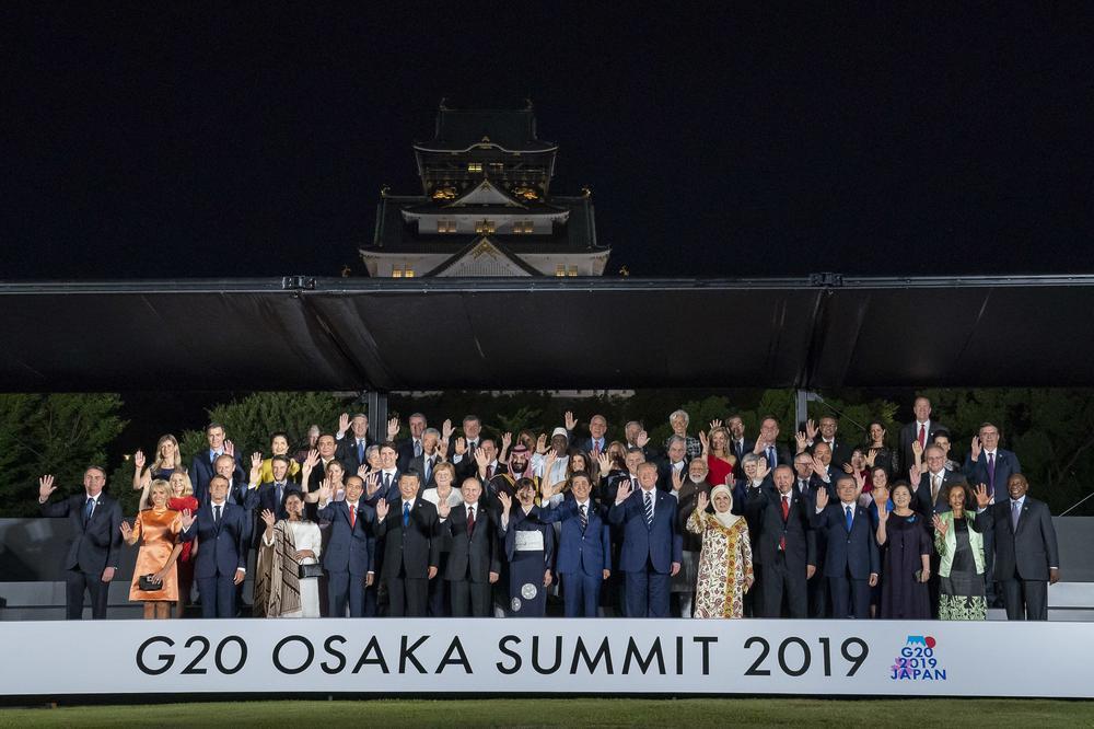 Gruppenbild von den Regierungschefs beim G-20-Gipfel