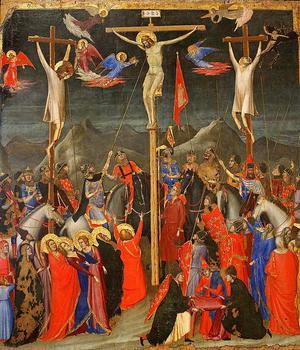 Gemälde der Kreuzigung Christi, wahrscheinlich  von Giotto di Bondone