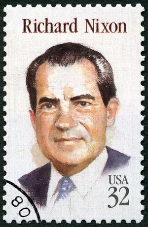 32-Cent-Briefmarke mit Richard Nixon.