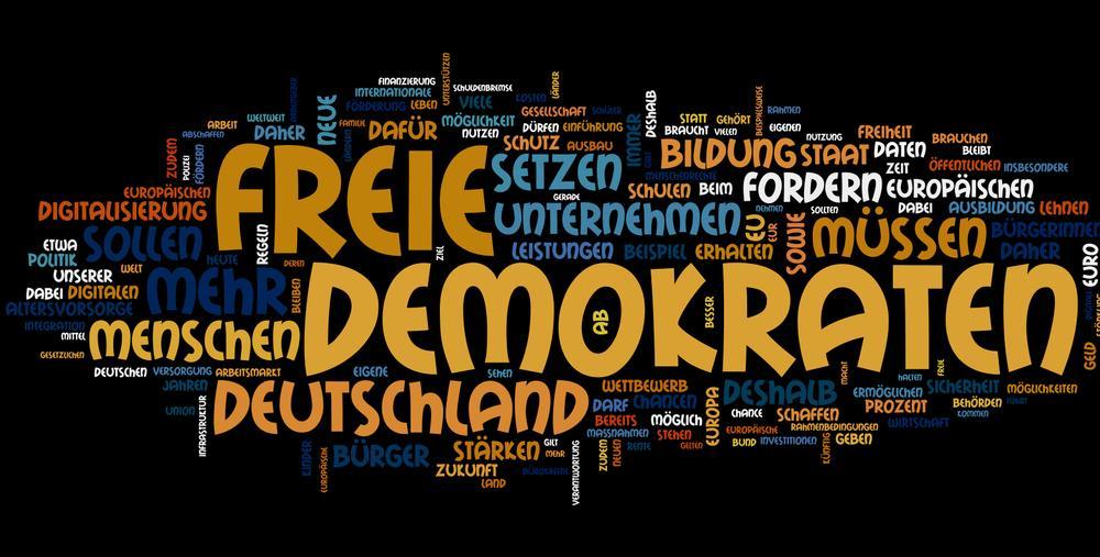 Das FDP-Wahlprogramm als Wortwolke
